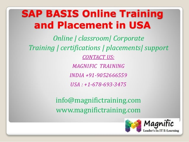 Online traning and placement