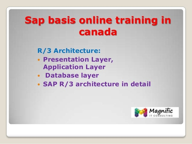 Sap basis online training in canada for Sap r 3 architecture