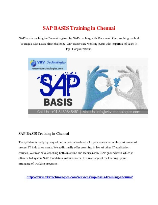 Which is the best SAP training centre at chennai? - Quora