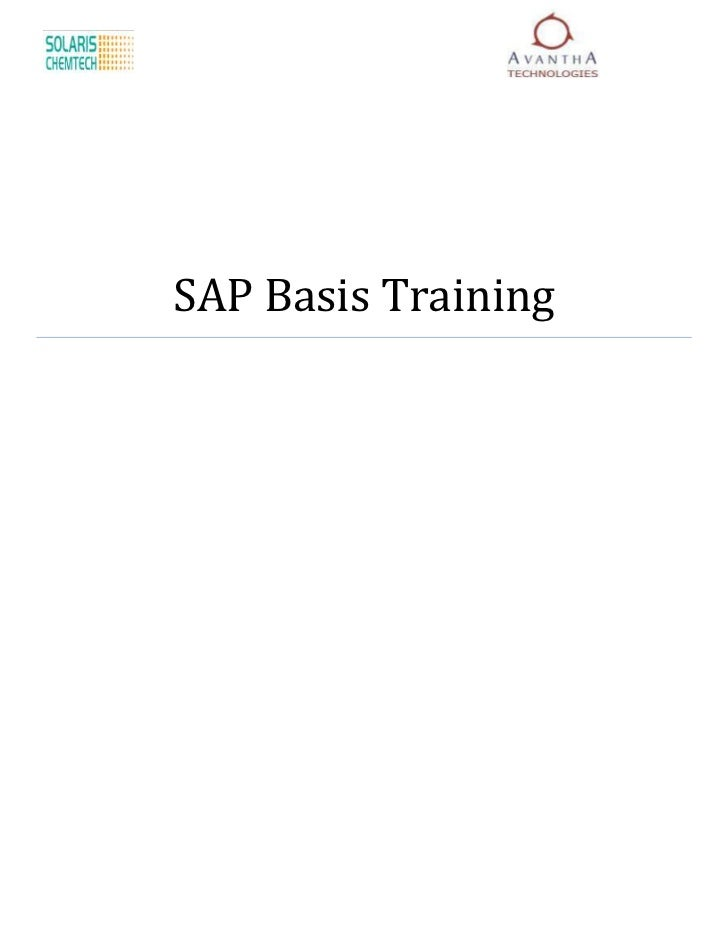 SAP Basis Training
