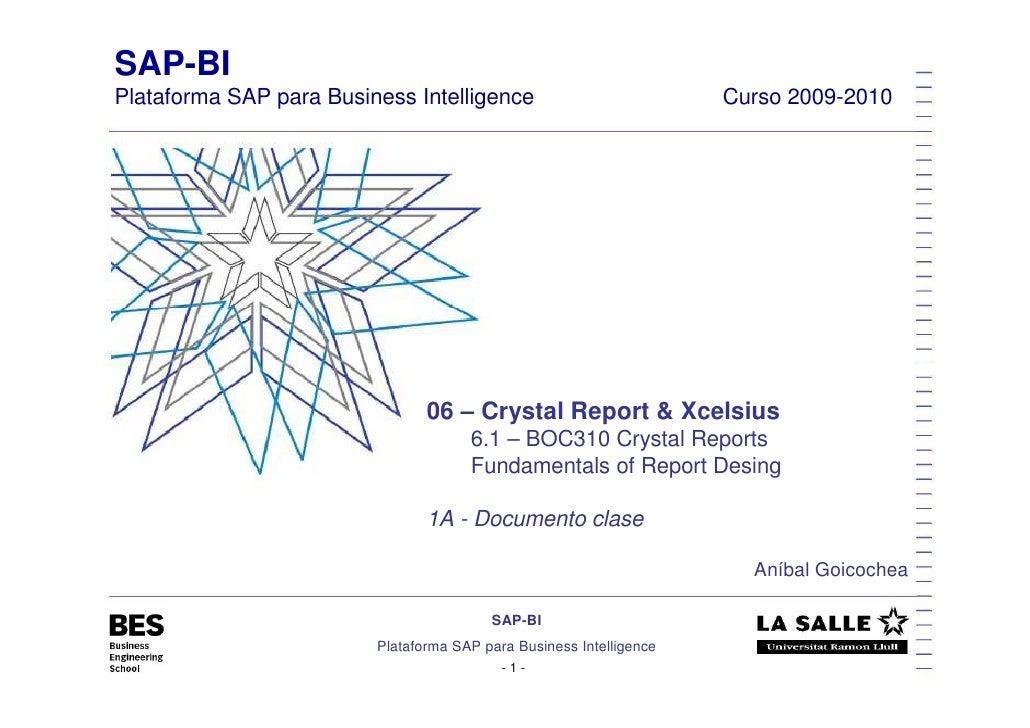 SAP-BI Plataforma SAP para Business Intelligence                            Curso 2009-2010                               ...