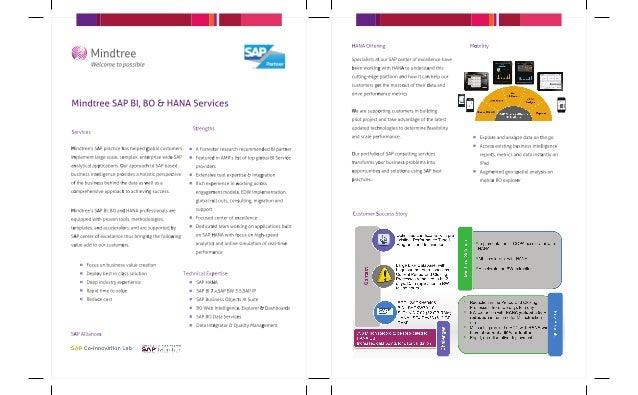 Mindtree SAP BI, BO & HANA services