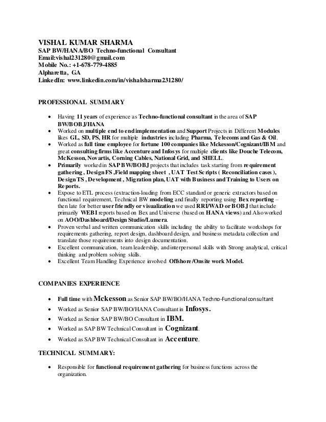 Bi consultant cover letter