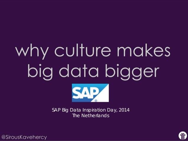 SAP Big Data Inspiration Day, 2014  The Netherlands