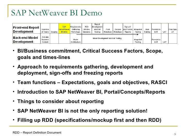 SAP BI Requirements Gathering Process - Sap requirement gathering template