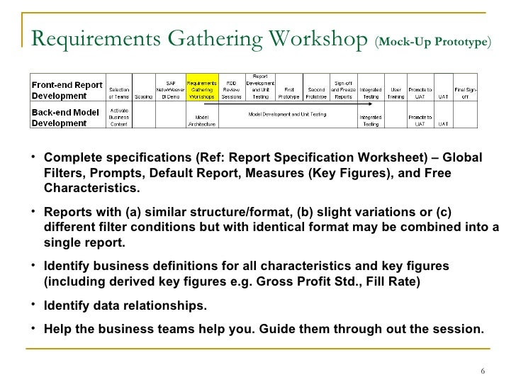 Sap bi requirements gathering process for Agile requirements gathering template