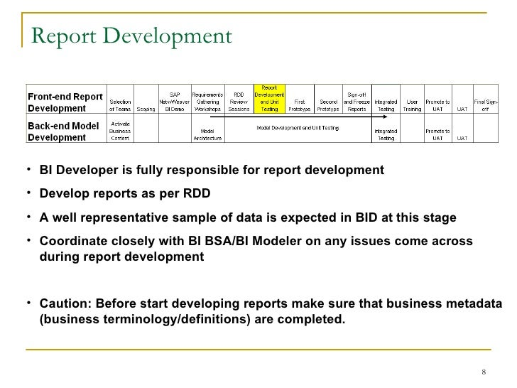 Sap bi requirements gathering process report development wajeb Choice Image