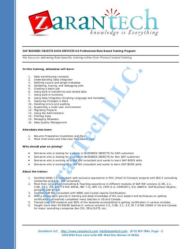 Sap Business Objects Resume. sap bw resume sample resume cv cover ...