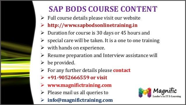 sap bods 4 0 overview bods training classes