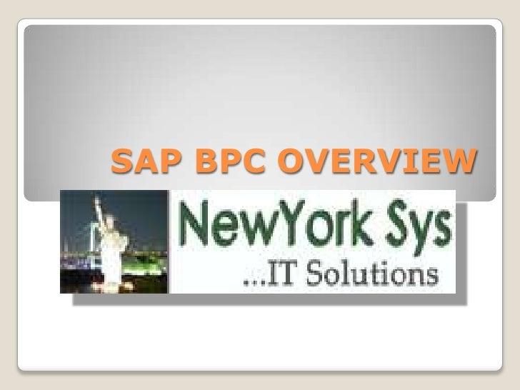 SAP BPC OVERVIEW