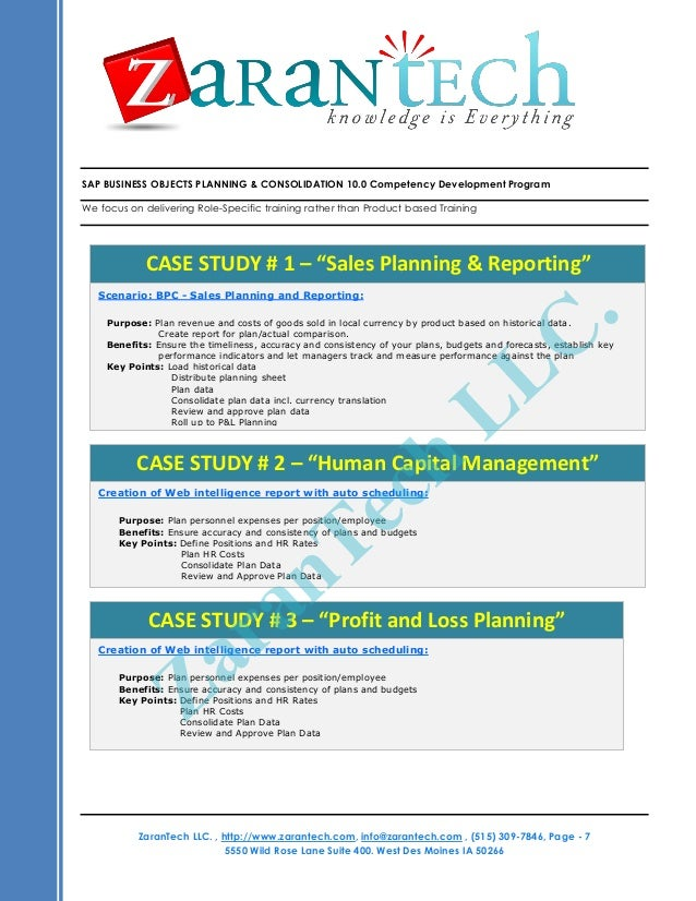 SAP Business Planning and Consolidation 11 Training