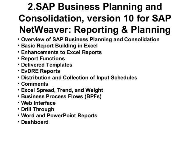 SAP Business Planning & Consolidation (BPC)