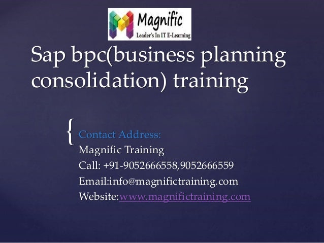 business planning and consolidation overview in spanish