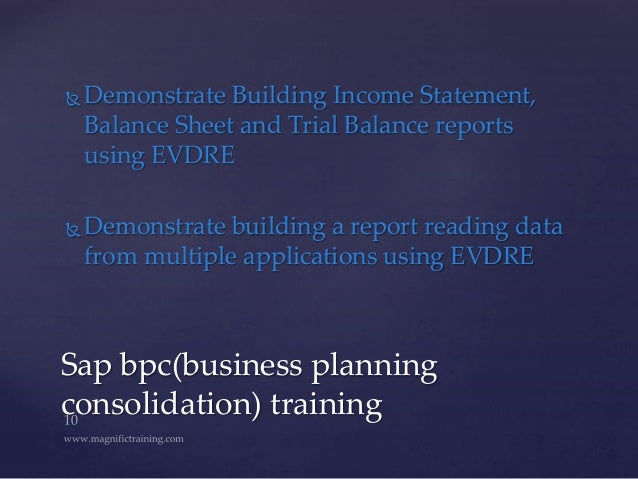 SAP Business Planning and Consolidation(SAP BPC) 11