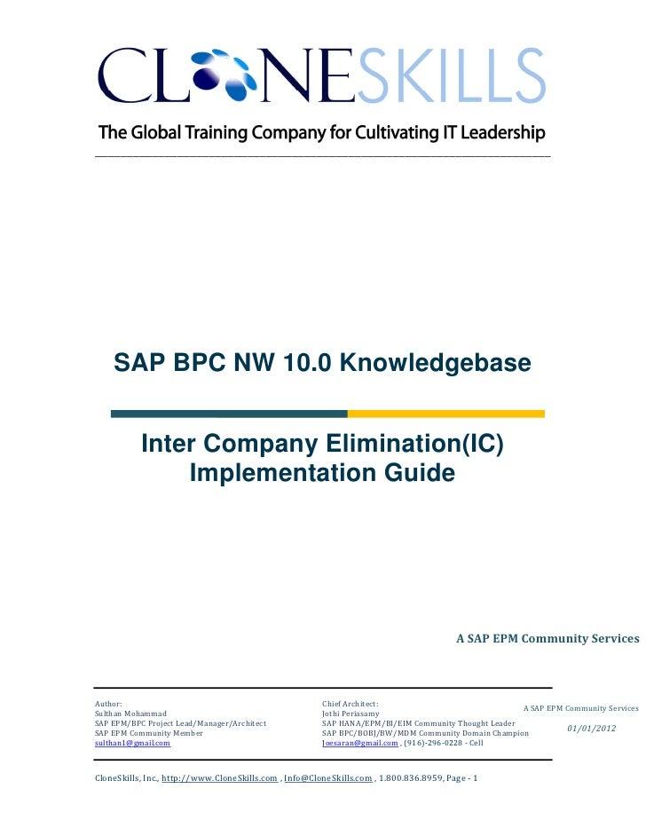 ________________________________________________________________________    SAP BPC NW 10.0 Knowledgebase           Inter ...