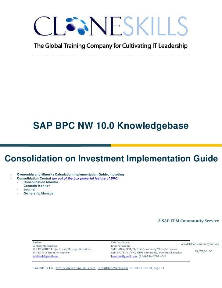 ________________________________________________________________________              SAP BPC NW 10.0 KnowledgebaseConsoli...