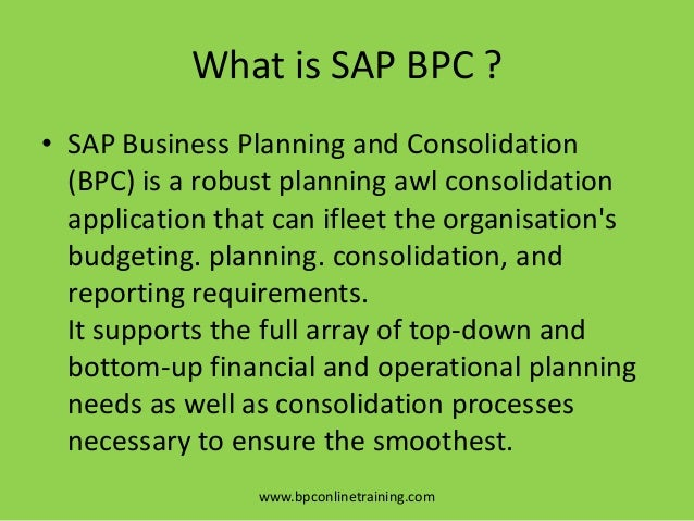 The Evolution of SAP BPC