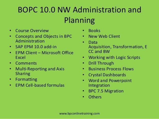 SAP BPC 11 Embedded Model