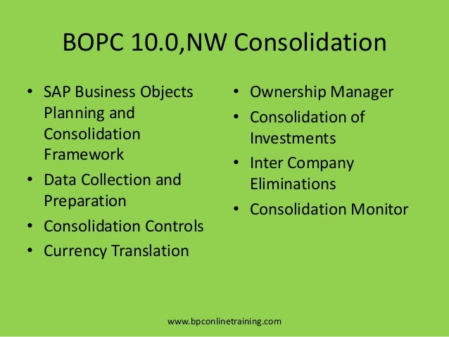 SAP BPC(Business Planning and Consolidation) Tutorial