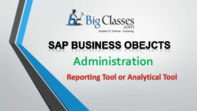 sap business objects tutorial ppt