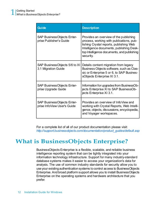 sap businessobjects installation guide rh slideshare net business objects xi 3.1 administration guide business objects xi 3.1 admin guide