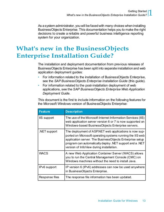 sap businessobjects installation guide rh slideshare net Getting Started Guide Template Word Composting Getting Started Guide