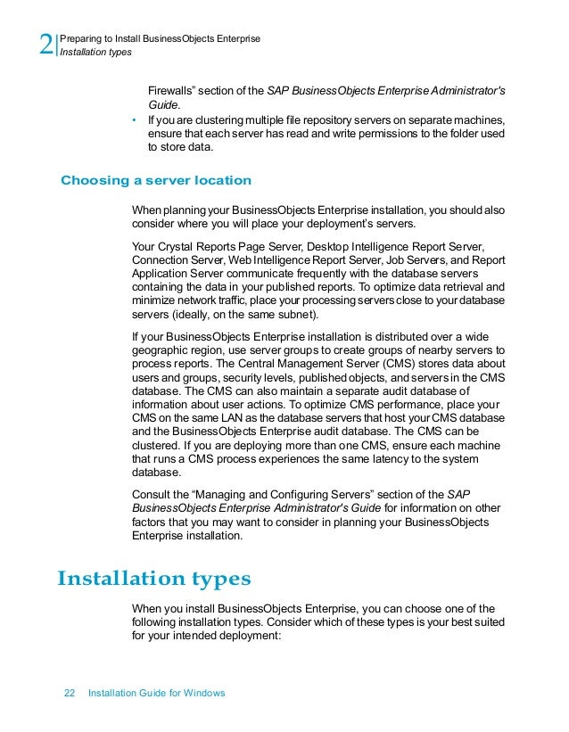 sap businessobjects installation guide rh slideshare net business objects xi 3.1 installation guide business objects installation guide for windows
