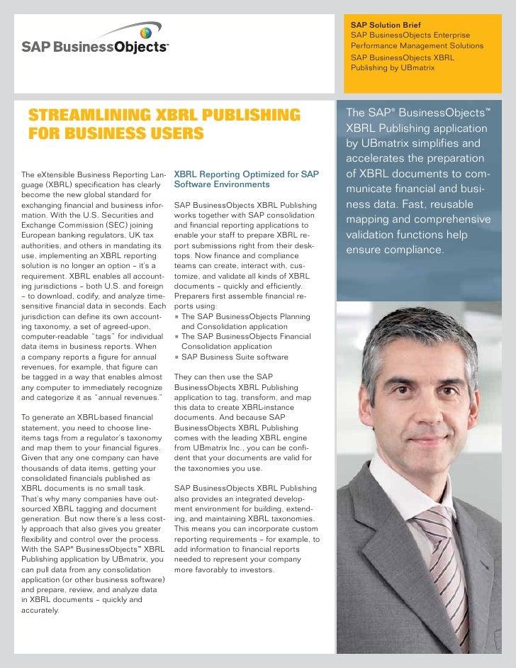 SAP Solution Brief                                                                                        SAP BusinessObje...