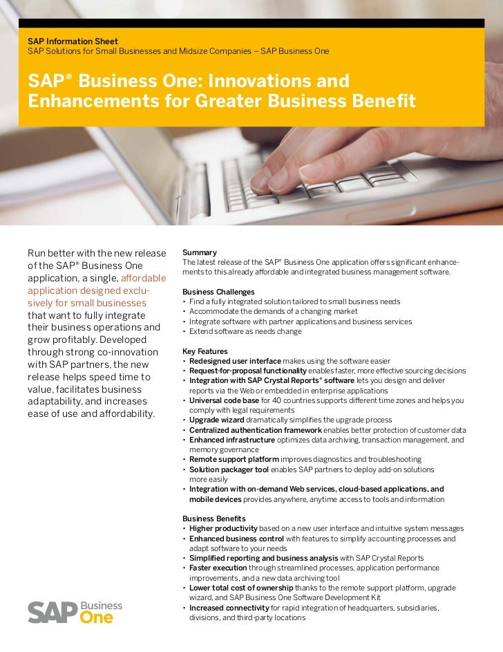 sap business one information in one page, Powerpoint templates
