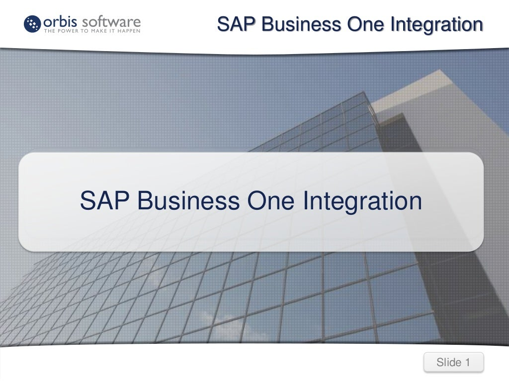 SAP Business One Integration: Integrating SAP Business One with another application or web service using TaskCentre