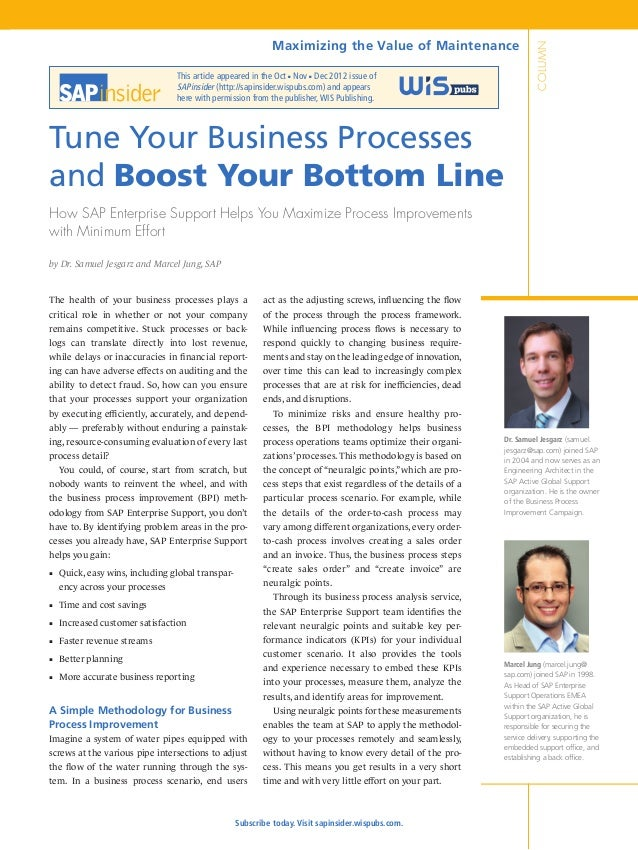 This article appeared in the Oct Nov Dec 2012 issue of SAPinsider (http://sapinsider.wispubs.com) and appears here with pe...