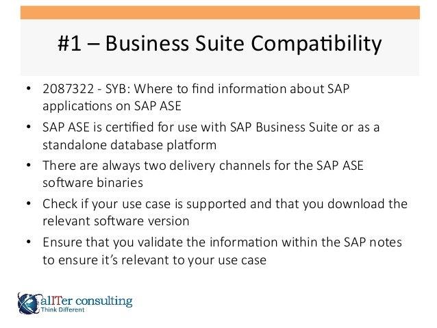 SAP ASE Migration Lessons Learned Slide 3
