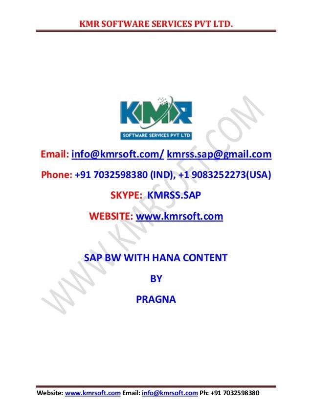 KMR SOFTWARE SERVICES PVT LTD. Website: www.kmrsoft.com Email: info@kmrsoft.com Ph: +91 7032598380 Email: info@kmrsoft.com...