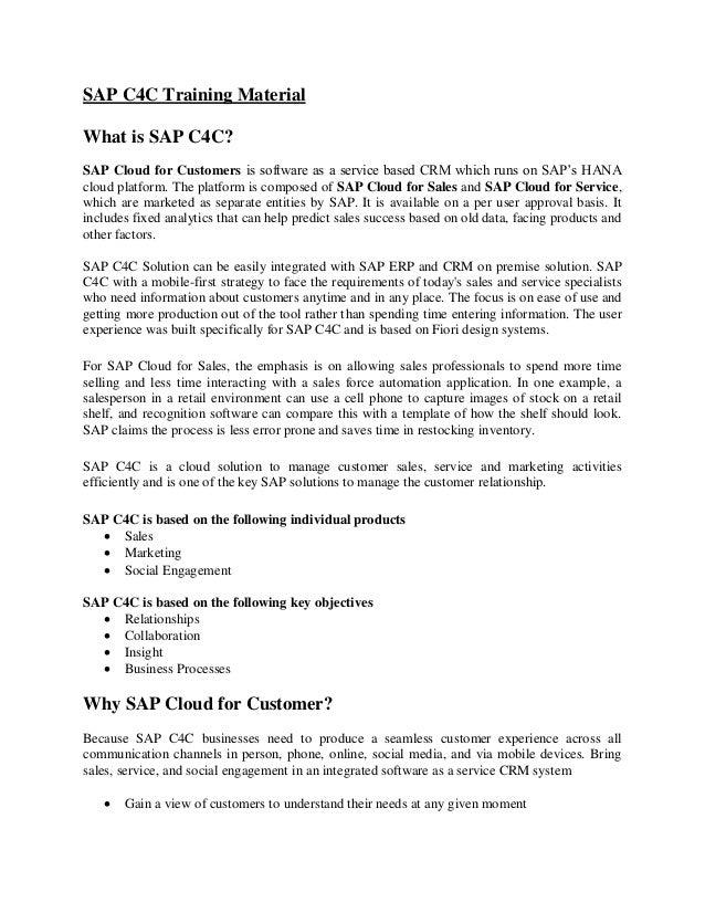 7aee2e9ad SAP C4C Training Material PDF