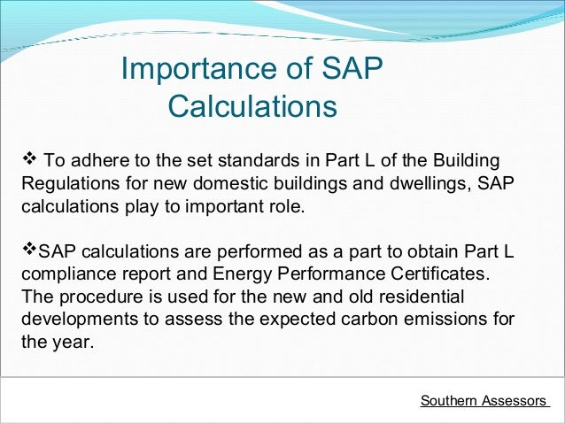 Building Regulations Sap Calculations