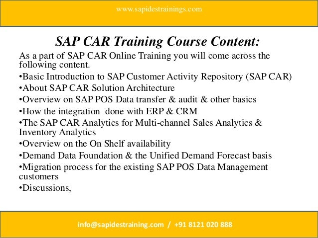 sap customer activity repository pdf