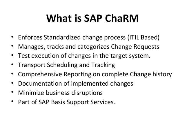 Sap Charm Change Request Management
