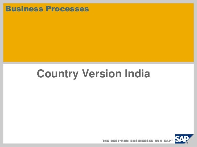 Business Processes  Country Version India
