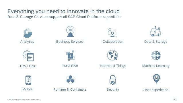 SAP Cloud Platform – Data & Storage - Overview