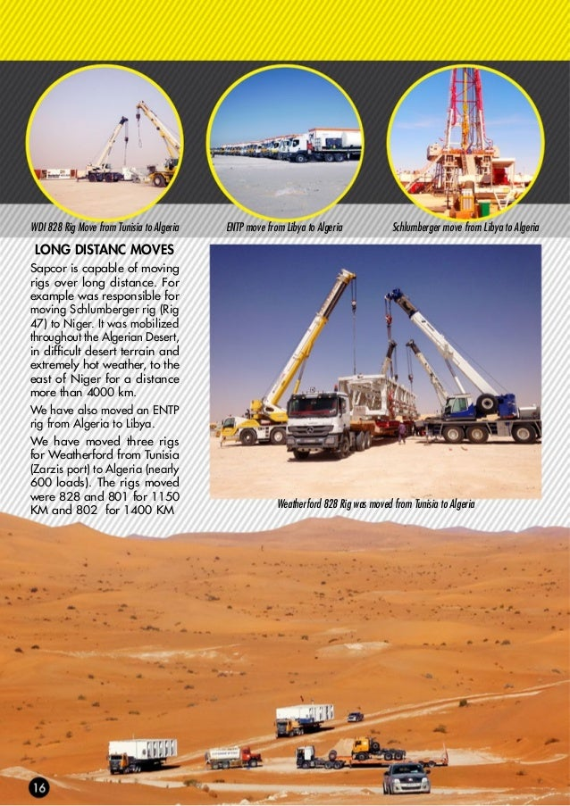 CASE STUDY WEATHERFORD MOVES In 2016 Sapcor has moved three rigs for Weatherford Drilling International (WDI). The rigs we...