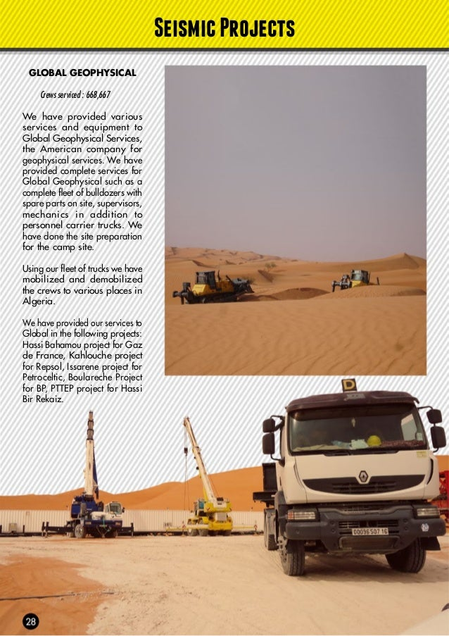CGG Crews serviced : DZA3282 We have provided various services and equipment for CGG including bulldozers, personnel carri...