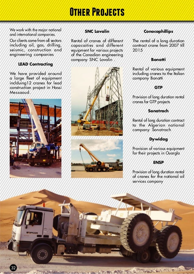 Entrepose Rental of cranes and trucks to the french construction and engineering company Entrepose. Gaz de France Provisio...