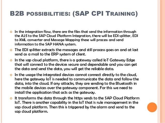 SAP CPI Training | SAP HANA Cloud Platform Integration