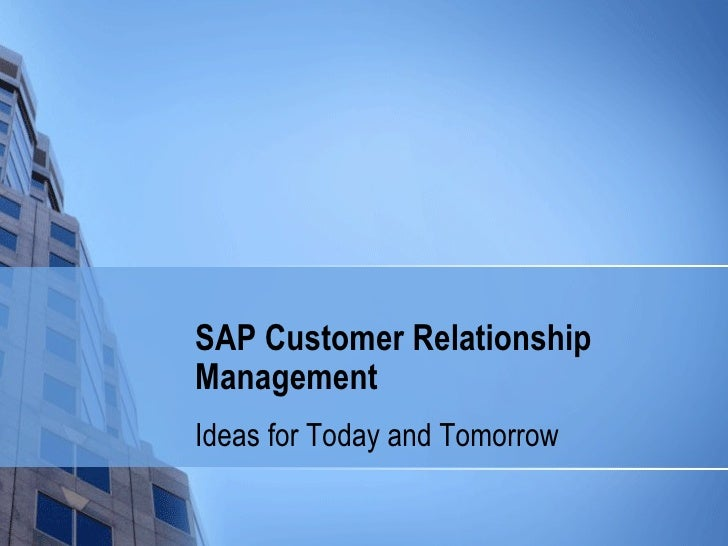sap customer relationship management pdf