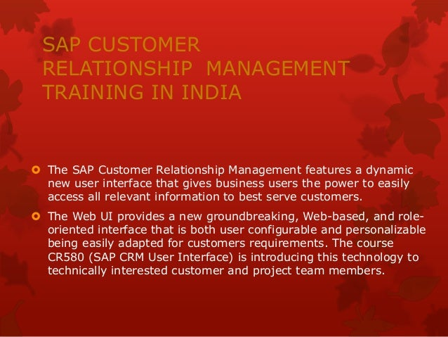 customer relationship management training uk