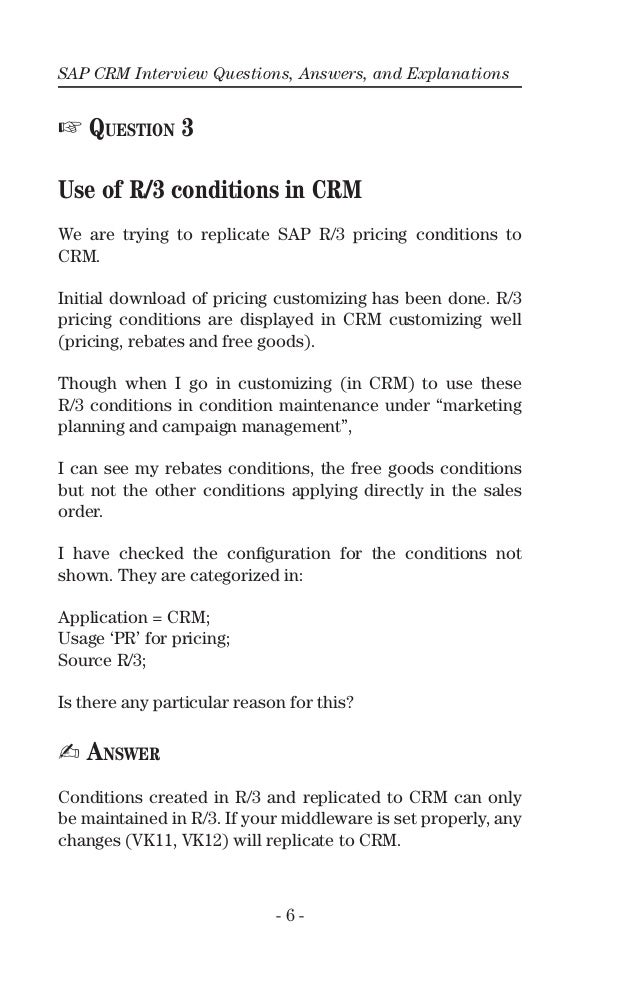 sap crm questions and answers pdf