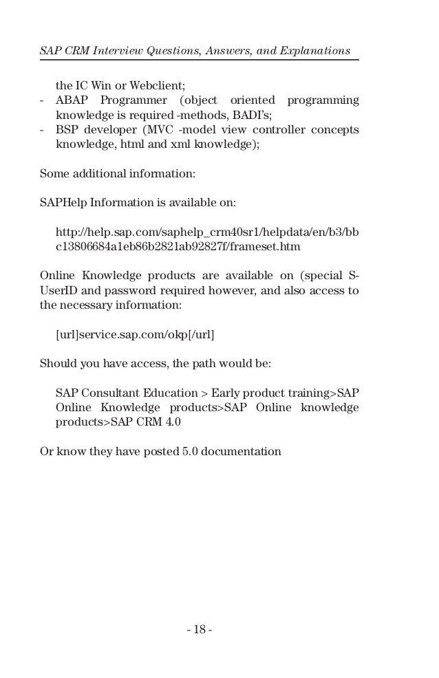 SAP CRM Questions and Answers - TutorialsPoint