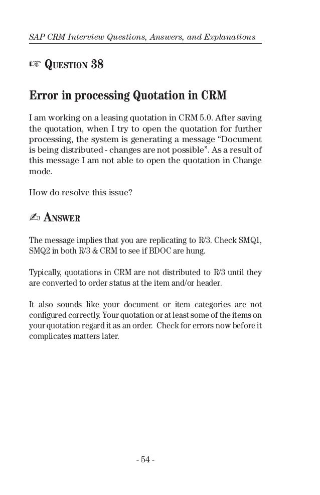Questions sap and pdf crm interview answers