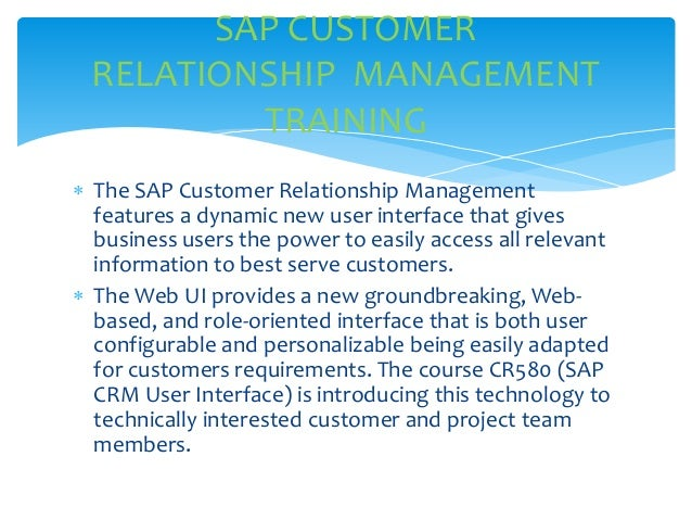 sap and customer relationship management