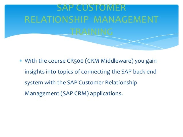 customer focus and relationship management for seminar
